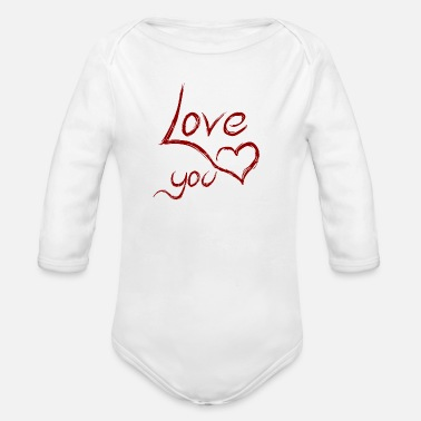 Love You love you - love you - Organic Long-Sleeved Baby Bodysuit