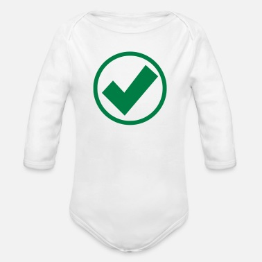 Check Mark check mark - Organic Long-Sleeved Baby Bodysuit