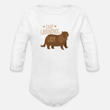 Undergound Crazy groundhog lady - Organic Long-Sleeved Baby Bodysuit