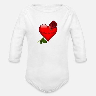 Cuore La Rosa del Cuore - Organic Long-Sleeved Baby Bodysuit