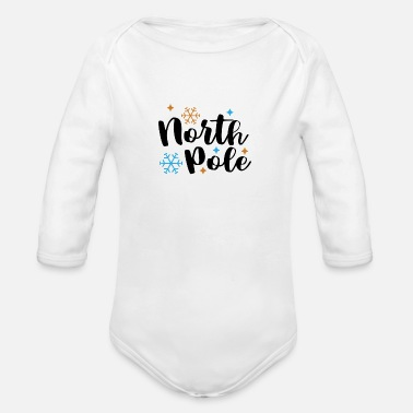 North Yorkshire North Pole PNG - Organic Long-Sleeved Baby Bodysuit