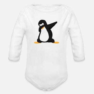 Party Dab Penguin Dabbing Dance Funny Gift Idea - Organic Long-Sleeved Baby Bodysuit