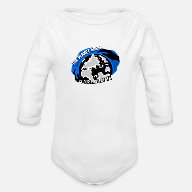 Defend the planet - Organic Long-Sleeved Baby Bodysuit