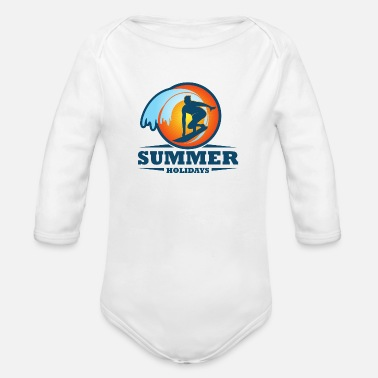 SUMMER HOLIDAYS - Organic Long-Sleeved Baby Bodysuit
