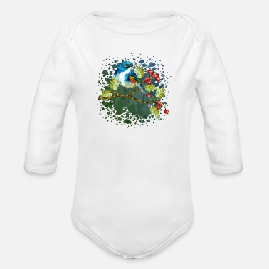 Best Friends Colorful bird - Organic Long-Sleeved Baby Bodysuit
