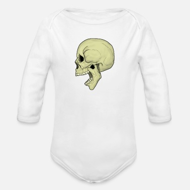 Rock 'n' Roll Screaming Skull3 kleur - Rompertje met lange mouwen