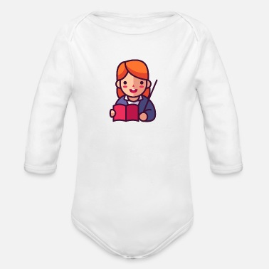 Teacher - Organic Long-Sleeved Baby Bodysuit