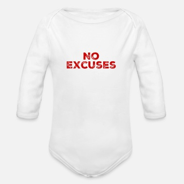 No Excuses No excuses - Organic Long-Sleeved Baby Bodysuit