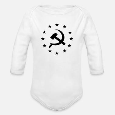 Socialist Socialist Communist Europe - Organic Long-Sleeved Baby Bodysuit