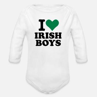 Irish Boys Amo gli Irish Boys T - Body a manica lunga per neonati cd05642c1fd