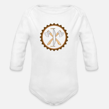 Forester logo - Organic Long-Sleeved Baby Bodysuit