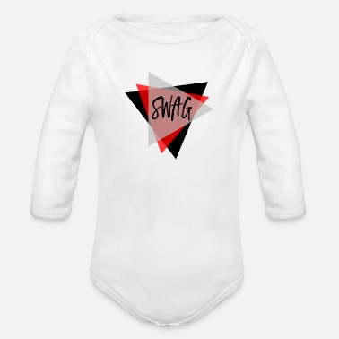 Triangle Swag triangles ROUGE Masculin - Body bébé bio manches longues