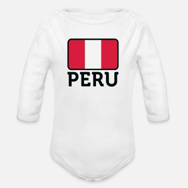 Lake Titicaca National Flag of Peru - Organic Long-Sleeved Baby Bodysuit
