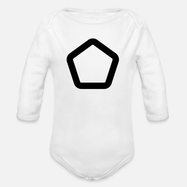 Shape SHAPES SHAPES CLEAN - Ekologisk långärmad babybody