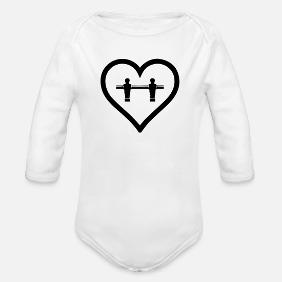 Love Baby Clothes - kicker Love - Organic Long-Sleeved Baby Bodysuit white