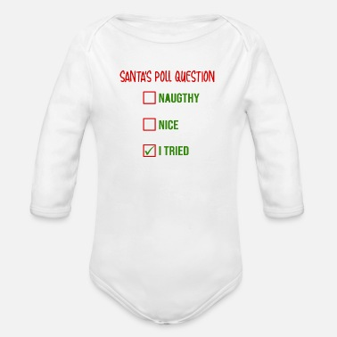 Poll Santa's Poll question - Organic Long-Sleeved Baby Bodysuit