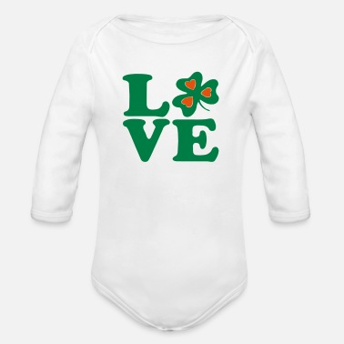 Most Bucket List Languages To Learn People To Meet And Fall In Love Countries To Visit And Travel To ♥ټ☘I Love Irish-Ireland-Happy St Patty's Day☘ټ♥ - Organic Long-Sleeved Baby Bodysuit