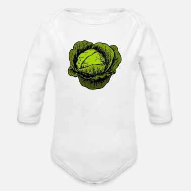 Cabbage cabbage - Organic Long-Sleeved Baby Bodysuit