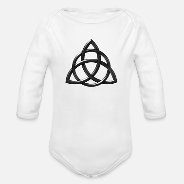 Celtic Knot Rough Chisell - Organic Long-Sleeved Baby Bodysuit