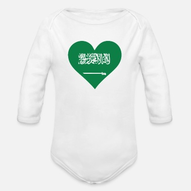 King Salman A Heart For Saudi Arabia - Organic Long-Sleeved Baby Bodysuit