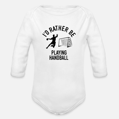 Handball Handballer Handball Player Player Gift - Organic Long-Sleeved Baby Bodysuit