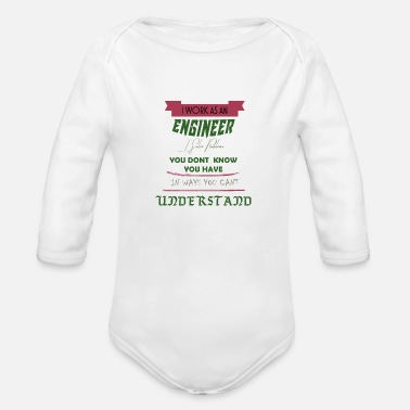 Linux I AM ENGINEER [ENGINEER] - I solve problems - Organic Long-Sleeved Baby Bodysuit