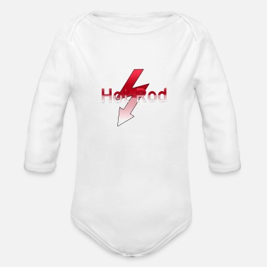 Hot Rod Hot rod - Organic Long-Sleeved Baby Bodysuit