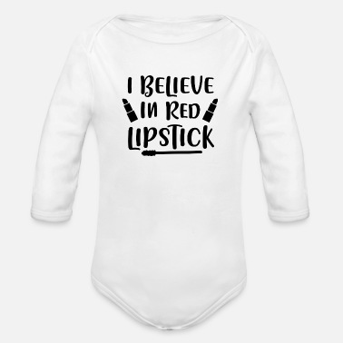 High School Graduate I Believe In Red Lipstick 01 - Organic Long-Sleeved Baby Bodysuit