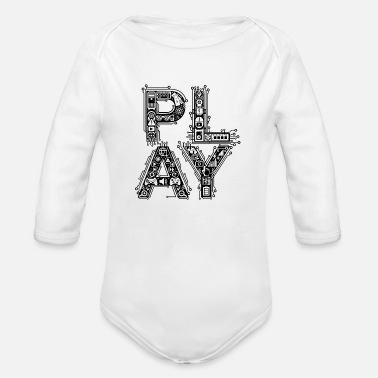 Playing Play - Organic Long-Sleeved Baby Bodysuit