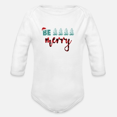 Merry Be Merry - Organic Long-Sleeved Baby Bodysuit