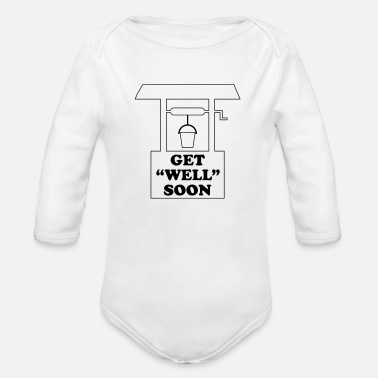 Get Well Get Well Soon - Organic Long-Sleeved Baby Bodysuit