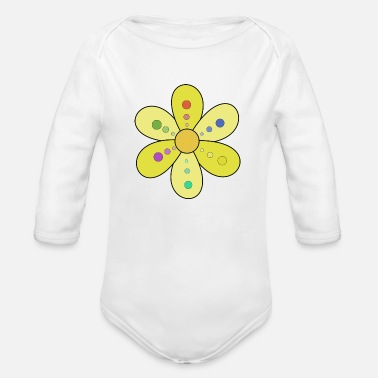 Bliss Flower 2 - Organic Long-Sleeved Baby Bodysuit
