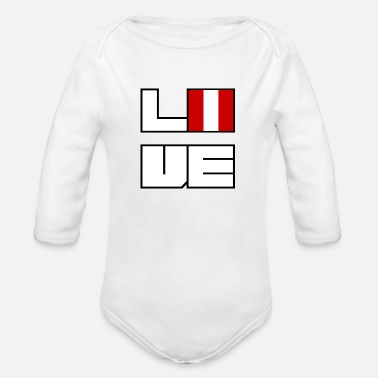 Love home roots Roots Peru - Organic Long-Sleeved Baby Bodysuit