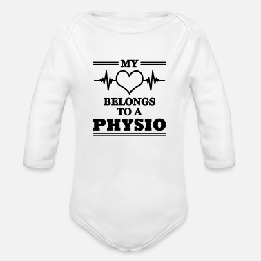 Physio My heart belongs to a physio - Organic Longsleeve Baby Bodysuit