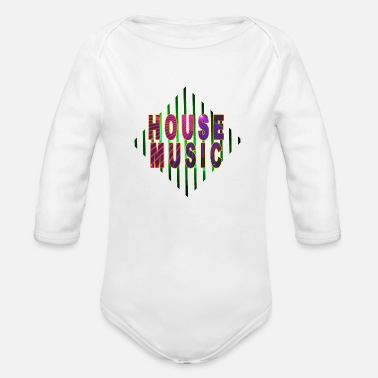 Bpm HOUSE MUSIC - Organic Long-Sleeved Baby Bodysuit