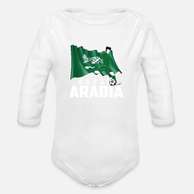 Saudi Arabia Football Gift Fan World Champion - Organic Long-Sleeved Baby Bodysuit