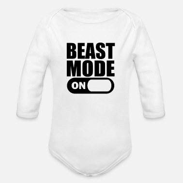Mode Beast Mode On - Rompertje met lange mouwen