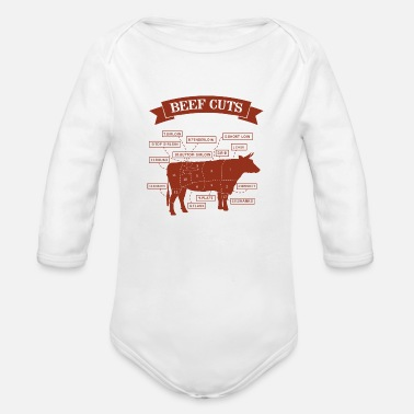 Beef Beef cuts - Organic Long-Sleeved Baby Bodysuit