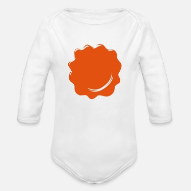 Spotted red spot - Organic Long-Sleeved Baby Bodysuit