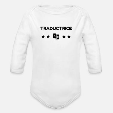 Translation Translator Übersetzer Traducteur Organic Longsleeve Baby Bodysuit