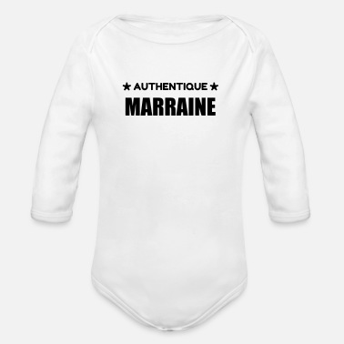 Marraine / Tante / Tata / Famille / Filleul - Organic Long-Sleeved Baby Bodysuit
