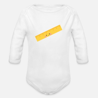 Ruler ruler - Organic Long-Sleeved Baby Bodysuit