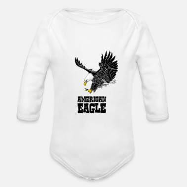 American American eagle - Organic Long-Sleeved Baby Bodysuit
