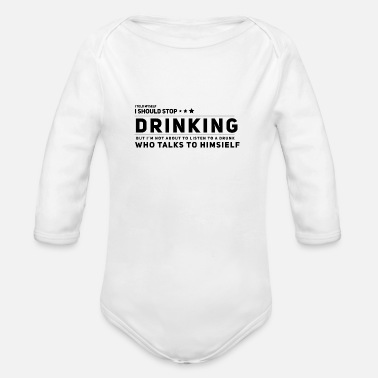 Drinks Drinking Drinking booze - Organic Long-Sleeved Baby Bodysuit