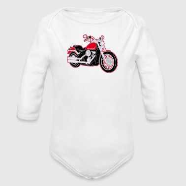 Biker Moto Moto moto sport girly motard motards - Body bébé bio manches longues