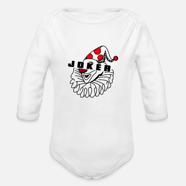 Joker Joker Joker Cinema Joker Clown - Organic Long-Sleeved Baby Bodysuit