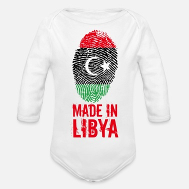 Libya Made in Libya / Made in Libya ليبيا - Organic Long-Sleeved Baby Bodysuit