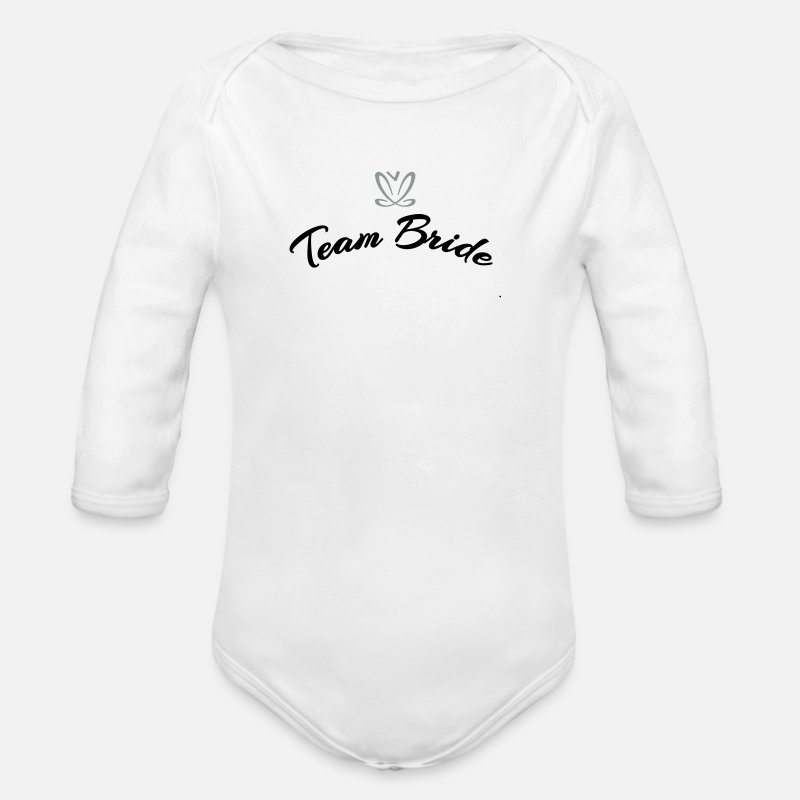 Team Bride Baby Clothing - Team Bride (2c) - Longsleeved-Sleeved Baby Bodysuit white