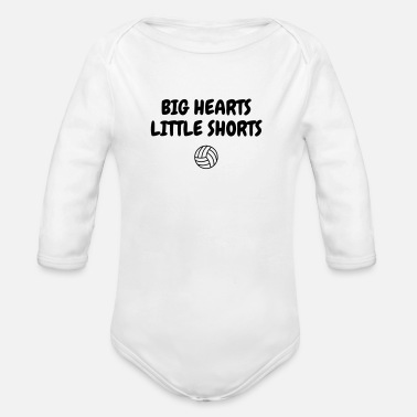 Volley Volleyball - Volley Ball - Volley-Ball - Sport - Organic Longsleeve Baby Bodysuit