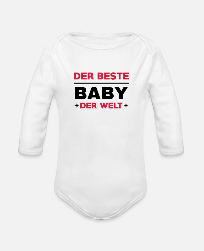 Pregnancy Baby Bodysuits - Baby Bébé Birth Geburt Bambino Naissance Birth - Organic Long-Sleeved Baby Bodysuit white